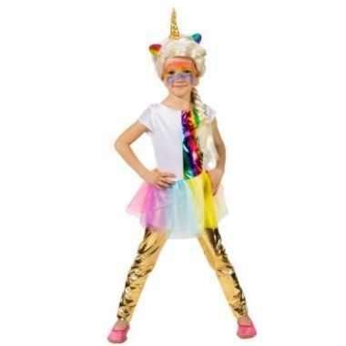 Kinder verkleed legging goud