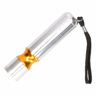 Kinder zaklamp led zilver/oranje
