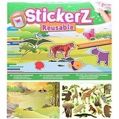 Kinderkamer raamstickers wilde dieren