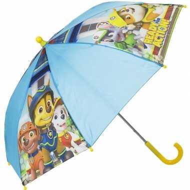 Kinderparaplu paw patrol blauw 45 cm