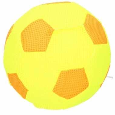 Knalgeel/oranje mesh speelgoed bal voor kinderen 23
