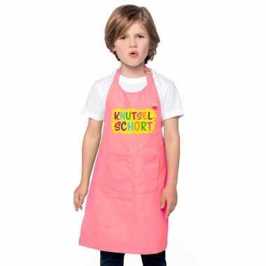 Knutselschort roze kinderen