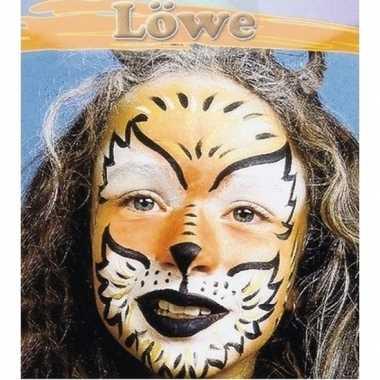 Leeuw schminken schminkset 6-delig