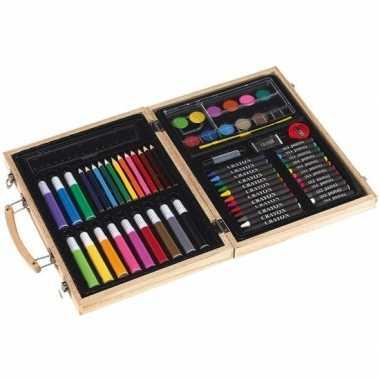 Luxe teken/schilderset koffer 66-delig