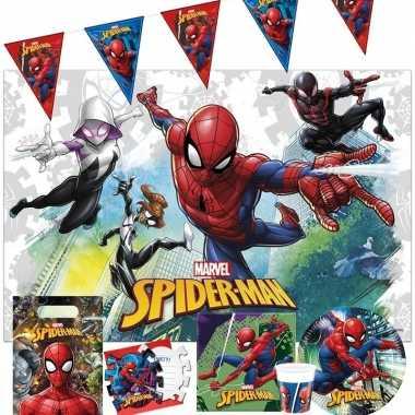 Marvel spiderman kinderfeest tafeldecoratie pakket 7-12 personen