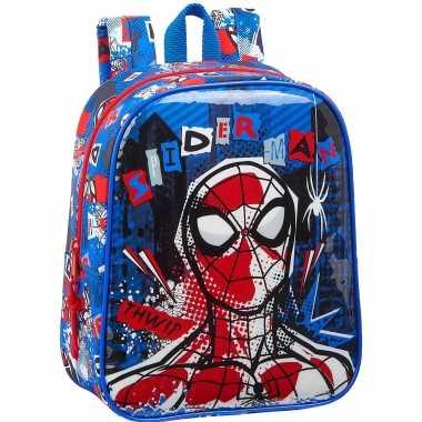 Marvel spiderman school rugtas/rugzak 27 cm voor peuters/kleuters/kinderen