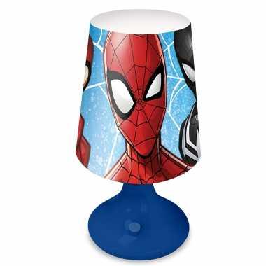 Marvel spiderman tafellamp/nachtlamp 18 cm voor kinderen