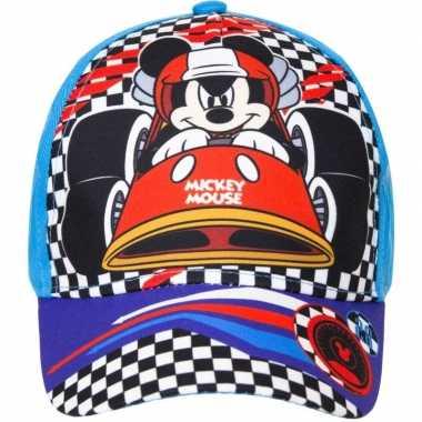 Mickey mouse pet/cap blauw voor kinderen