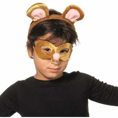 Muizen masker en tiara voor kinderen
