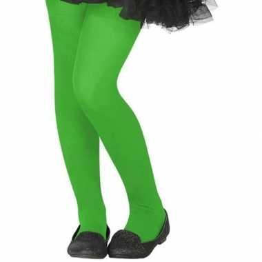 Neon groene verkleed panty voor kinderen