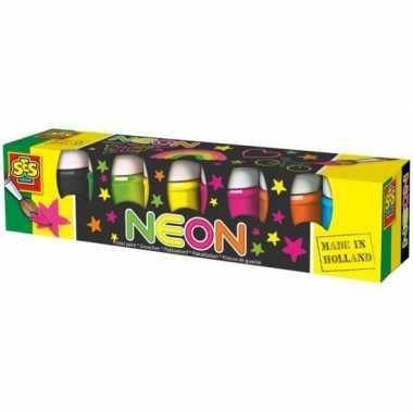 Neon verf 6 stuks 50 ml