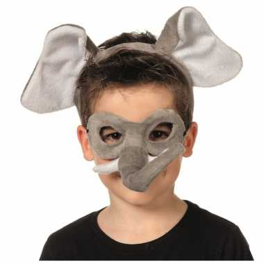Olifanten masker en tiara voor kinderen