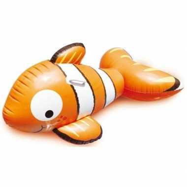 Oranje opblaasbare clown vis dieren ride-on 122cm