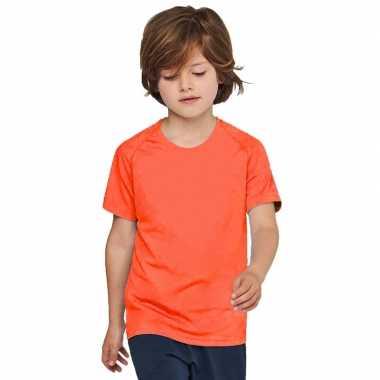 Oranje t-shirt/sportshirt voor kinderen