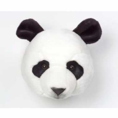 Panda kop voor aan de muur