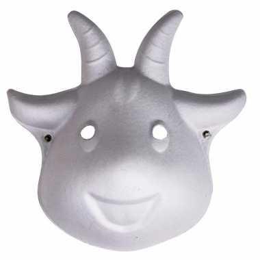 Papier mache geiten masker 22 cm