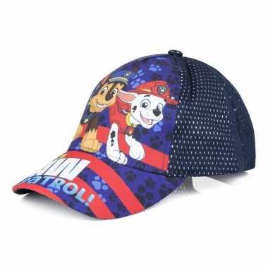 Paw patrol pet/cap blauw voor kinderen