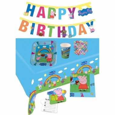 Peppa big kinderfeestje feestpakket 7-12 personen