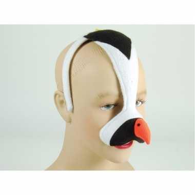 Pinguin masker aan diadeem