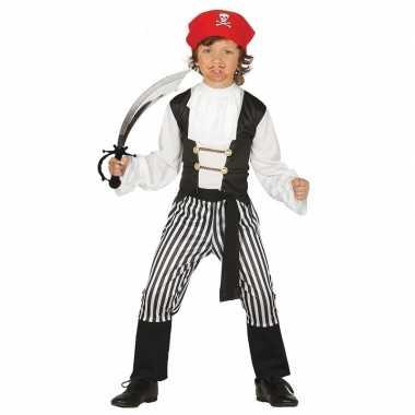 Piraten kostuum maat 140-152 met zwaard voor kinderen