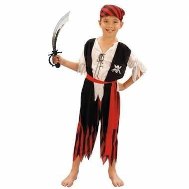 Piraten kostuum maat m met zwaard voor kinderen