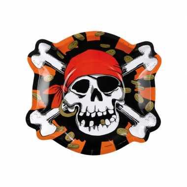 Piraten thema kinder verjaardag bordjes 18x stuks