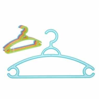 Plastic kinder kledinghangers 10 stuks