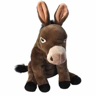 Pluche ezel knuffel 30 cm