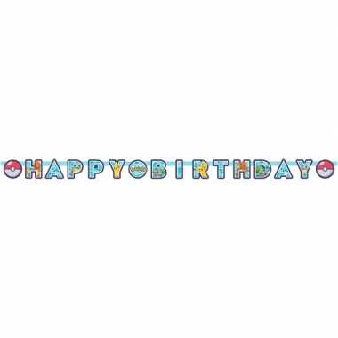 Pokemon themafeest wenslijn/letterslinger happy birthday 218 x 1