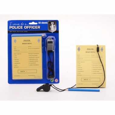 Politie speelgoed bonnenboekje voor kinderen