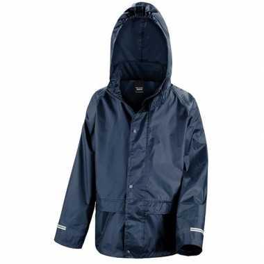 Regenjas winddicht navy blauw voor jongens