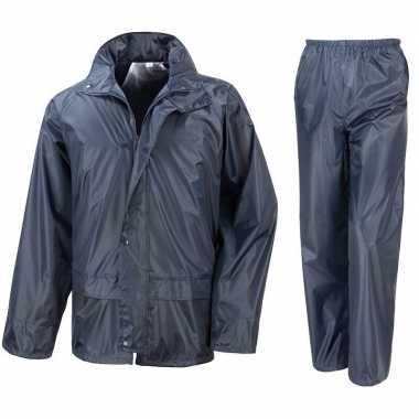 Regenpak winddicht navy blauw voor jongens