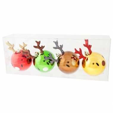 Rendier kerstballen voor kinderboompje