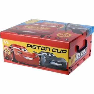 Rode opbergbox/opbergdoos disney cars 37 cm