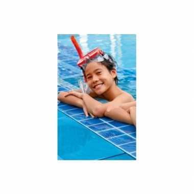Rode snorkelset voor kinderen vanaf 8 jaar