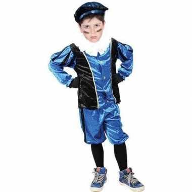 Roetveeg pieten kostuum blauw/zwart voor kinderen