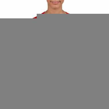 Rood duitsland supporter t-shirt voor kinderen