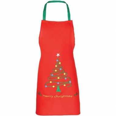 Rood kerst schort voor kinderen