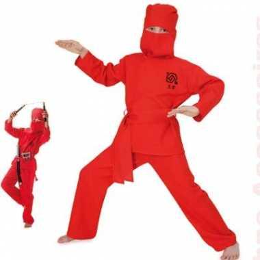 Rood ninja kostuum voor kinderen