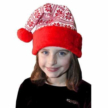 Rood/witte kerstmuts voor kinderen