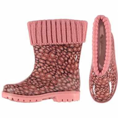 Roze kinder regenlaarzen met voering