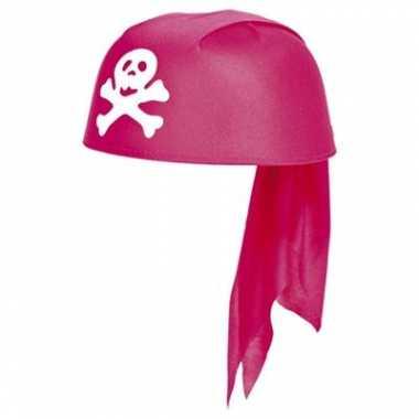 Roze piraten kinderhoedje