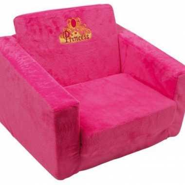 Roze prinsessen stoel voor kinderen 40 cm