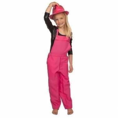 Roze tuinbroek overall voor kinderen