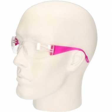 Roze vuurwerkbril/veiligheidsbril voor kinderen