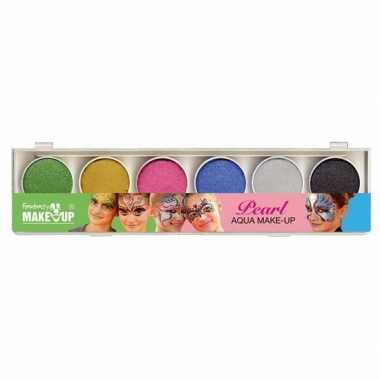 Schmink set glitter make up 6 kleuren