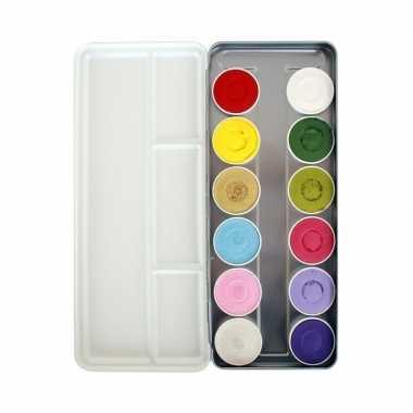 Schminkpalet waterbasis 12 kleuren