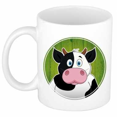 Set van 2x stuks koeien mokken / bekers voor kinderen 300 ml
