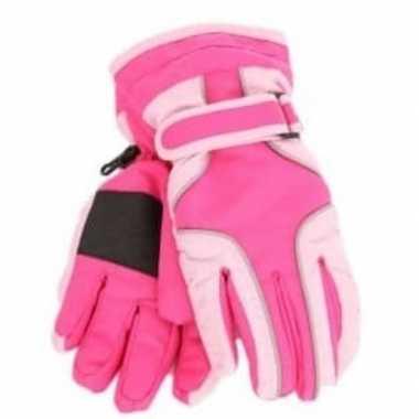 Ski handschoenen voor meisjes waterproof knal roze