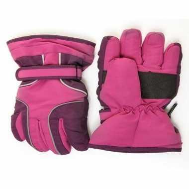 Ski handschoenen voor meisjes waterproof paars